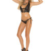 Leather halter cami with stud detailing - Leather halter cami with stud detailing. Matching side tie panty.
