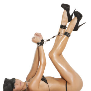 Leather wrist to ankle restraints - Leather wrist to ankle restraints