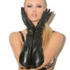 Long leather gloves - Long leather gloves.