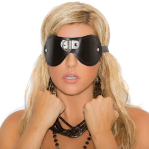 Leather Blindfold With D Ring Detail