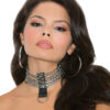 Leather and chain choker - Leather and chain choker.