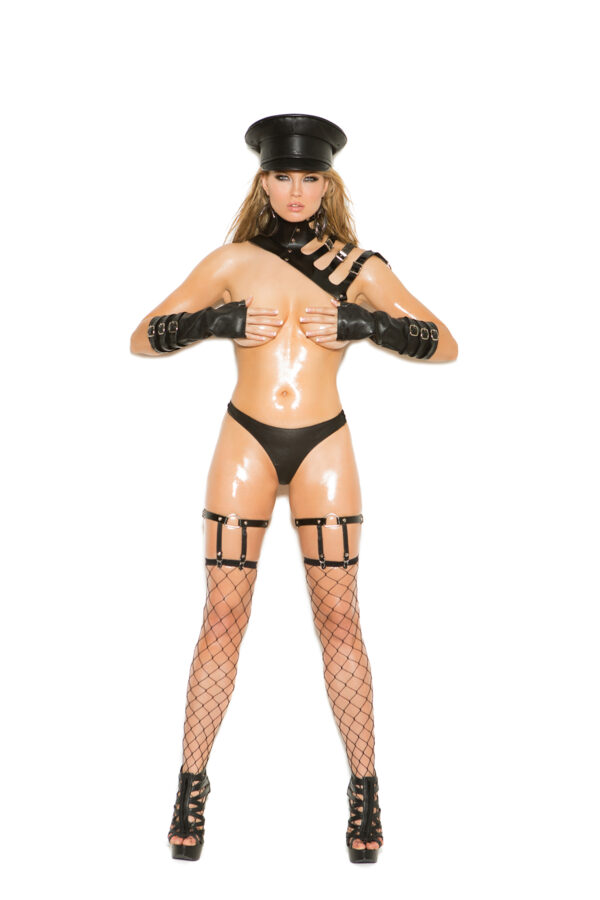 Leather Leg Garters With D Ring Detail