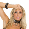 Leather Choker With O Ring And D Ring
